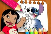Книжка-раскраска Лило и Стич Lilo and Stitch Coloring Book