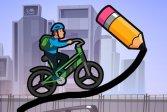 Нарисуйте велосипедный мост Draw The Bike Bridge