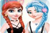 Эльза и Анна Нарядные Макияж elsa and anna Dress Up Makeup